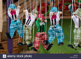 string puppet up view of string puppet clown toys stock photo royalty