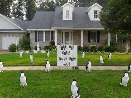 Home Lawn Decoration Penguin Birthday Lawn Display Louisville