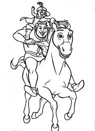 shrek riding donkey puss boots coloring pages shrek
