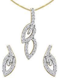 gold pendant necklace set images Gold pendant set 0 85 ct diamond small diamond necklace natural jpg&a