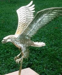 eagle ornament restoration with media blasting composition