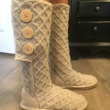 womens ugg juliette boot 59 ugg shoes ugg lattice cardy size 6 in from