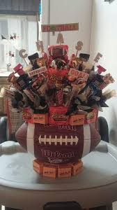 football gift baskets football candy bouquet candy bouquets and more