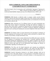 9 insurance non compete agreement templates free sample