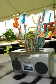 centerpieces from my son u0027s music themed party baby wipes