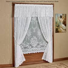 Lace Curtain Cranbrook White Lace Window Treatment