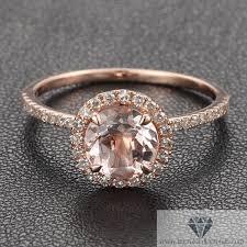 morganite engagement ring gold gold morganite pave engagement cocktail ring