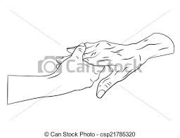 vector illustration of old people care hand csp21785320 search