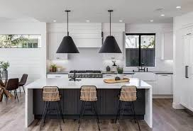 kitchen with black island and white cabinets 30 black and white kitchen design ideas designing idea