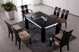 Black Wood Dining Table Likeable Fancy Black Wood Dining Table With High At Cozynest Home