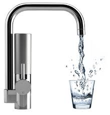 innovative water filtering kitchen faucet mywell freshome - Kitchen Faucet With Filter