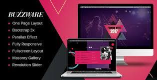buzzware fashion week u0026 beauty event html5 responsive website
