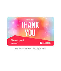 instant e gift card snapdeal thank you e gift card buy online on snapdeal
