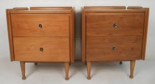 furniture mid century nightstands with white ceramic floor and