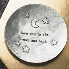 you to the moon and back trinket dish by kutuu