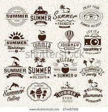 vintage design summer typography designs summer logotypes set stock vector