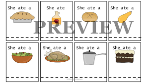 thanksgiving sequencing activities i know an old lady book who swallowed a pie book companion pack