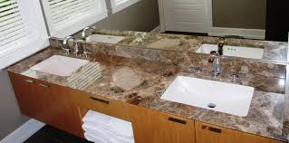45 Bathroom Vanity by Marble Vanity And Backsplash With Undermount Sinks Reverse 45 Edge