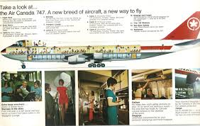 Air Canada Flight Map by Airlines Past U0026 Present Air Canada Boeing 747 Introduction Early