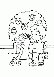 easter eggs tree coloring page for kids coloring pages printables