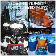 monster trucks movie themed party giveaway