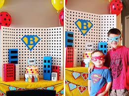 Superhero Backdrop Decoracion Mesa Fiestas Pinterest Superhero Party Superhero