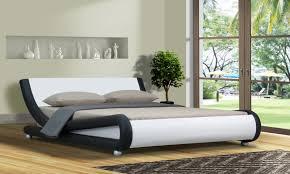 italian design mallorca queen king size black white pu leather bed