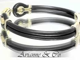 gold rubber bracelet images Sauro 18k yellow gold rubber bracelet jpg