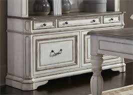 magnolia manor 3 piece home office set in antique white finish by