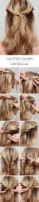 getting fullness on the hair crown lulus how to twisted crown hair tutorial crown hair crown and