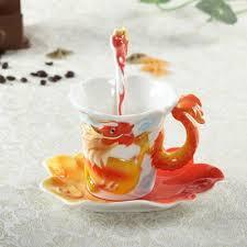 Dragon Coffee Cup Dragon Porcelain Enamel Porcelain Flange Creative Ceramic Coffee