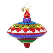 radko 1017744 pretty spinner spin top ornament new 2015