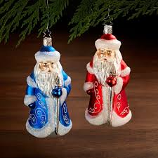 german glass santa claus ornament national geographic store