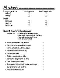 conference report template kindergarten conference report template by kindergarten is
