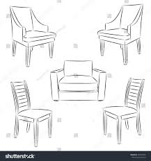 chair icon classic chair outline contour stock vector 204799438
