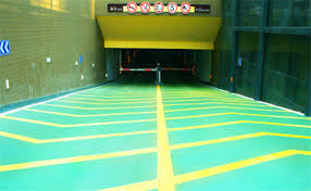 anti slip parking paint color sand epoxy flooring coating for ramp