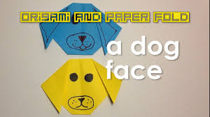 paper fold simple and easy dog face for kids toy and paper