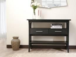 black sofa table with drawers elegant black sofa table thedigitalhandshake furniture