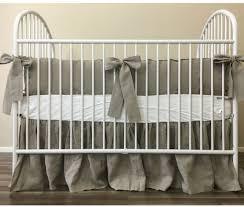 Baby Bedding Set Linen Baby Bedding Set With Sash Ties Rustic Nursery Charm