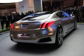 peugeot 607 coupe mostcar123321 peugeot rc hymotion4 four door coupe hybrid concept