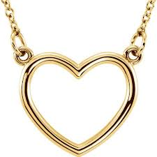 shaped necklace images 14 karat yellow gold heart shaped necklace mrs jones company jpeg