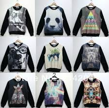 3d sweater com buy smlxl harajuku galaxy letters panda 3d