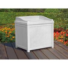 suncast ssw1200w white wicker 22 gallon storage seat ebay