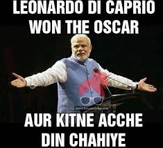 Hindi Meme Jokes - leonardo di caprio won oscar meme troll jokes in hindi haryanvi