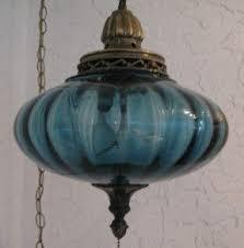 Blue Light Fixture Swag Hanging L Light Foter