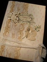 vintage wedding album book arts wedding album handmade book lace pearls would