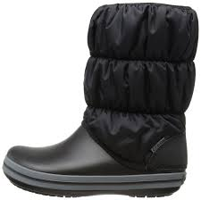 womens winter boots zappos furlined crocs crocs womens winter puff boot warm
