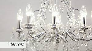 annalee led 8 light bathroom chandelier litecraft lighting