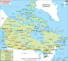 map if canada road map
