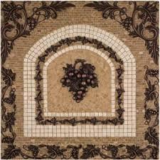 Metal Grape Mosaic Mural Backsplash Medallion  X - Medallion tile backsplash